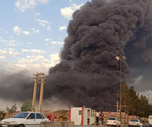 چندین کشته و مجروح در آتش سوزی کارخانه الکل قم + فیلم