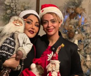 دورهمی هانیه توسلی، شقایق فراهانی و شبنم فرشادجو در شب کریسمس