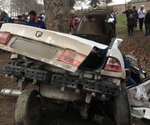 ۳ کشته در تصادف سمند با درخت