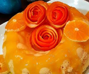 طرز تهیه کیک پرتقال با سس پرتقالی عصرانه ای مقوی و سالم