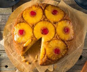 طرز تهیه کیک آناناس وارونه جدید و متفاوت