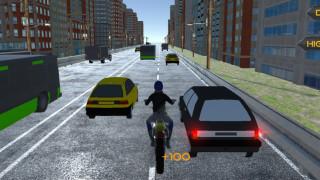 بازی موتورسواری در ترافیک