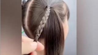 آموزش بستن موی دختر بچه