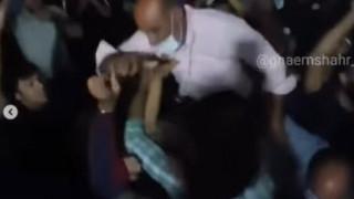 فیلم شادی مردم جویبار در مقابل منزل حسن یزدانی