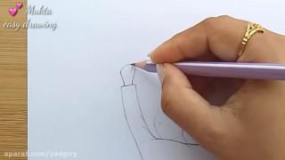 آموزش نقاشی عاشقانه ساده