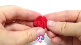 آموزش درست کردن گل رز با خمیر