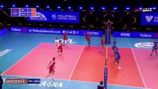 خلاصه بازی والیبال ایران ۱ - روسیه ۳ جام ملت ها ۲۰۲۱