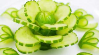 تزئین و میوه آرایی با خیار