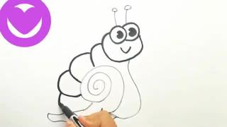 آموزش نقاشی حلزون برای کودکان