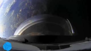 غروب آفتاب زمین از دید کپسول دراگون در فضا