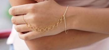 جدیدترین مدل تمیمه یا دستبند انگشتری عروس شیک و خاص