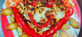 طرز تهیه خوراک قفقازی با گوشت گوساله و فیله مرغ