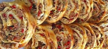 ساده ترین روش و دستور پخت بورک لاهماجون با خمیر یوفکا به روش ترکیه ای