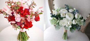 دسته گل دامادی ۹۹ جدید و شیک با انواع طرح های جذاب
