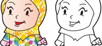 ۲۰ نقاشی شیک و باکلاس با موضوع حجاب برای رنگ آمیزی کودکان