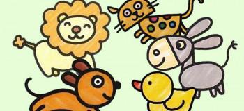۵۰ نقاشی کودکانه ساده و بسیار زیبا برای رنگ آمیزی