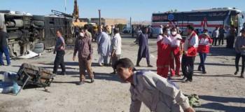 حادثه اتوبوس در یزد ۵ کشته و ۲۸ زخمی بر جای گذاشت