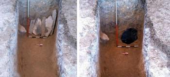 کشف جسد بانوی ۳۵ ساله از دوره اشکانیان در بهشهر + عکس