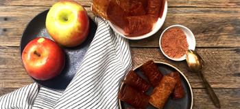 طرز تهیه ۷ مدل لواشک سیب در خانه