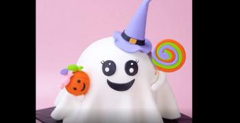 آموزش دیزاین کیک جشن هالووین و مهمانی