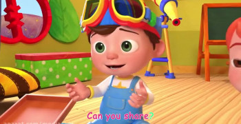 کارتون نوزاد دختر شاد و کودکانه