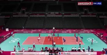 خلاصه والیبال المپیک توکیو لهستان 2 - 3 فرانسه