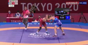 برد حسن یزدانی مقابل سوئیس در المپیک توکیو 2020