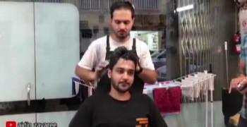 دوربین مخفی خنده دار مدل مو از آیدین زواری