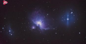 آسمانی زیبا از دیده تلسکوپ 3 متری
