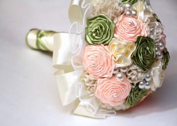 جدیدترین دسته گل های زیبای عروس با روبان جدید 2018