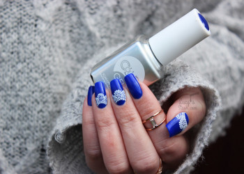 طراحی ناخن های دلبرانه با لاک آبی + تصاویر