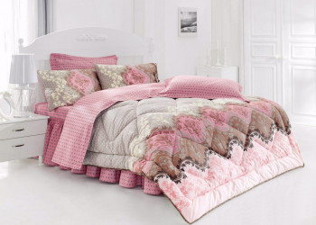 مدل های جدید روتختی صورتی رنگ مناسب تخت خواب های دونفره