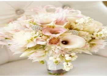 جدیدترین تزیین دسته گل عروس با مروارید,روبان,تور شیک و جذاب + تصاویر