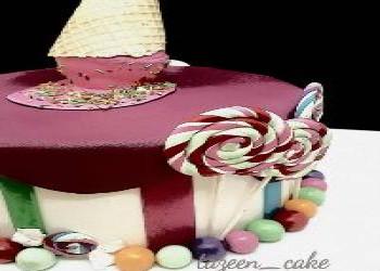 تزیین کیک با خامه و شکلات خوش طعم به همراه آموزش بصورت فیلم
