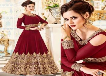 لباس هندی جدید 2018 با انواع طرح های بلند و کوتاه جذاب (4)