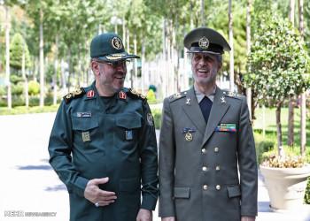 تصاویر ورود وزیر دفاع و پشتیبانی نیروهای مسلح به وزارت دفاع