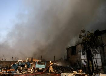 تصاویر آتش سوزی در چند انبار کالا در خیابان وحدت اسلامی