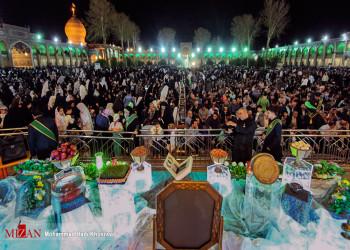 تحویل سال نو  مردم شیراز  در حرم شاهچراغ (ع)
