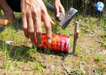 ساخت تله پرنده با قوطی کوکاکولا