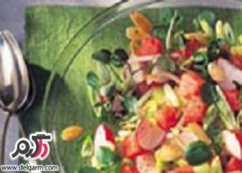طرز تهیه سالاد هندوانه با خیار و تربچه