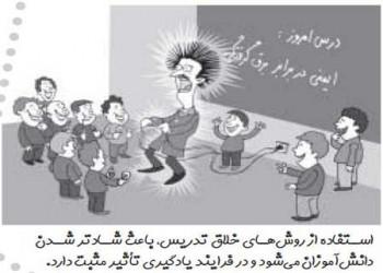 کاریکاتور:روش های خلاقانه تدریس