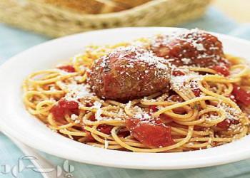 اسپاگتی با کوفته ترکی