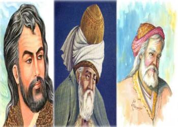 حافظ، مولانا و خیام در کنار هم