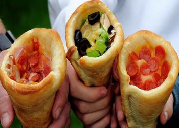 طرز تهیه پیتزا قیفی با تصاویر