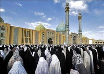 نماز امام زمان (ع) در مسجد جمكران