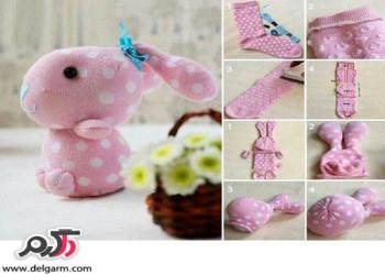 روش ساده ساخت خرگوش با جوراب