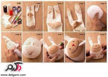 آموزش ساخت عروسک با جوراب + تصویری