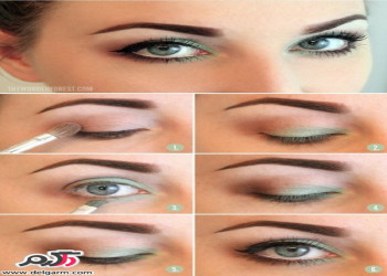 آرایش چشم مخصوص ساقدوش با تم سبز