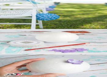 ساخت توپک گلی جهت تزیین صندلی عروسی