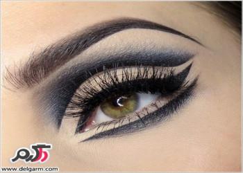مدل آرایش چشم دخترانه همراه با تم خاص